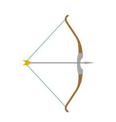 arrow and bow cartoon vector image