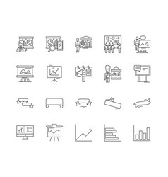 banner line icons signs set outline vector image