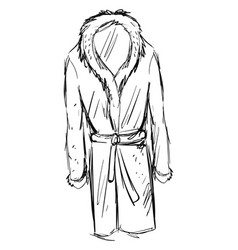 bathrobe drawing on white background vector image