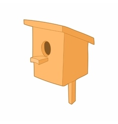 Birdhouse or nesting box icon cartoon style vector image