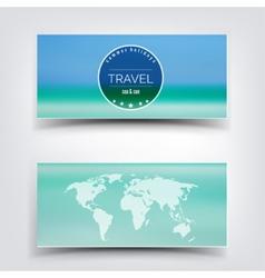 Blurred landscape background card Travel concept vector image