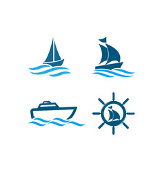 boat graphic design template vector image