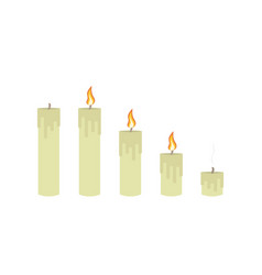 Burning candles set vector