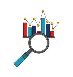 business report diagram analysis vector image
