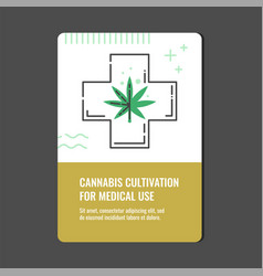 cannabis cultivation for medical use vertical vector image