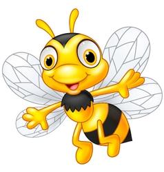 Cartoon cute bees vector