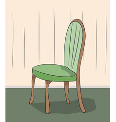 chair standing in a room vector image