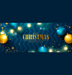 christmas and happy new year bannerholiday vector image