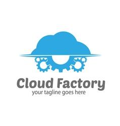 Cloud factory logo vector