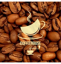 coffee cup design beans background vector image