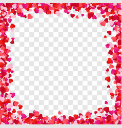 color paper heart frame background heart frame vector image