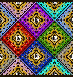 colorful geometric greek seamless pattern bright vector image