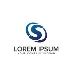 creative modern letter s logo design concept vector image