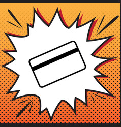 Credit card symbol for download comics vector