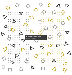 cute small geometrical shapes background vector image