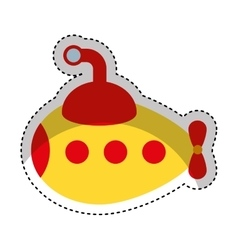 Cute submarine toy isolated icon vector