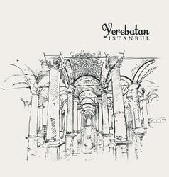 Drawing sketch yerebatan vector