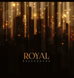 Elegant royal background with golden bars effect vector