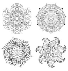 Entangle stylized tribal arabic indian mandala vector