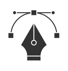 fountain pen nib glyph icon vector image