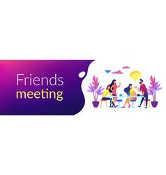 friends meeting concept banner header vector image