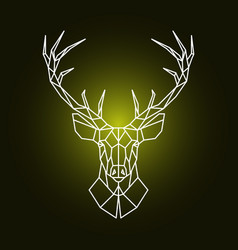 Geometric reindeer head ornamental stag head vector