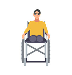 guy without legs sitting in wheelchair isolated on vector image