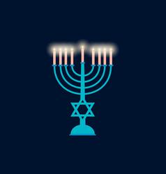 happy hanukkah hanukkah candles flat design vector image