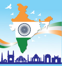 Happy independence day india banner vector
