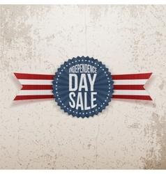 Independence Day Sale textile Emblem vector image