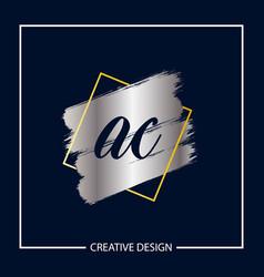 Initial letter ac logo template design vector