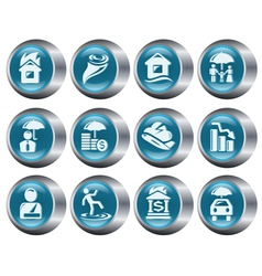 Insurance buttons vector image