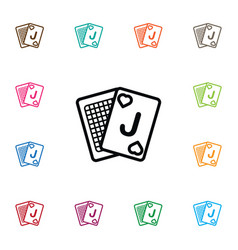 Isolated deck icon game element can be vector