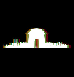 isolated new delhi cityscape vector image