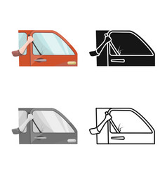 Isolated object car and theft icon set car vector