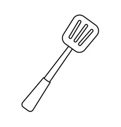 Isolated object kitchenware and shovel sign vector