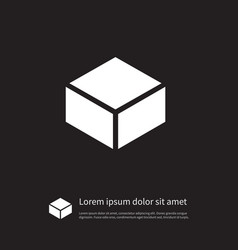 Isolated parcel icon package element can vector