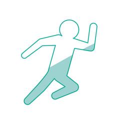 man running silhouette vector image