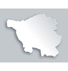 Map of Saarland vector