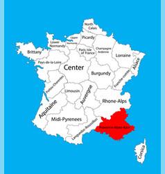 Map state provence-alpes-cote dazur france vector