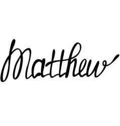 Matthew name lettering vector image