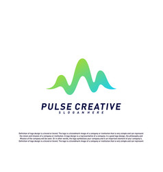 Medical pulse or wave logo design concepthealth vector