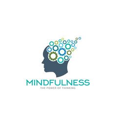 mindfulness brain imagination logo vector image