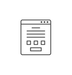 online form line outline icon vector image