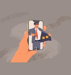 online fraud web hacking vector image