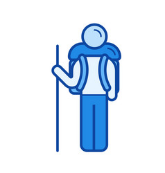 outdoor activity line icon vector image