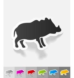 realistic design element boar vector image