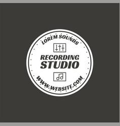 recording studio label badge emblem logo vector image