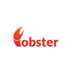 red crawfish prawn shrimp lobster seafood vector image