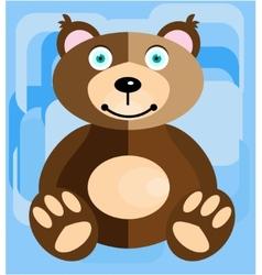 Teddy bear on a blue background vector image